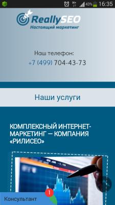 адаптивный дизайн reallyseo.ru